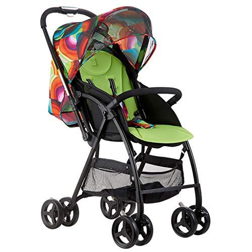 Yyqx Kinderwagen Stilvolle Kinderwagen Licht Folding Stoßdämpfer Trolley Kinderwagen for Reisen geeignet for Kind Kinderwagen Pram Buggy (Color : A)