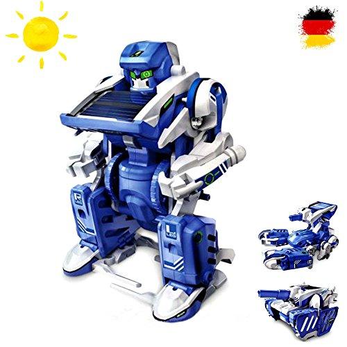 3 in 1 Konstruktions-Bauset mit Solar, Roboter, Panzer, Baukasten-Set Solar-Kit Elektrisches pädagogisches Konstruktions-Bauset mit Solar Wissenschaft Exprementieren, Antrieb durch Sonnenlicht