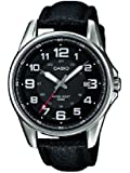 Casio - MTP-1372L-1BVEF - Standard - Montre Homme - Quartz Analogique - Cadran Noir - Bracelet Cuir Noir