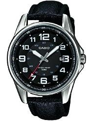 Casio Herren-Armbanduhr XL Casio Collection Analog Quarz Leder MTP-1372L-1BVEF