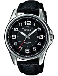 Casio Collection – Herren-Armbanduhr mit Analog-Display und Echtlederarmband – MTP-1372L-1BVEF