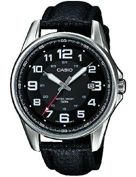 Casio Collection – Herren-Armbanduhr mit Analog-Display und Echtlederarmband – MTP-1372L-1BVEF