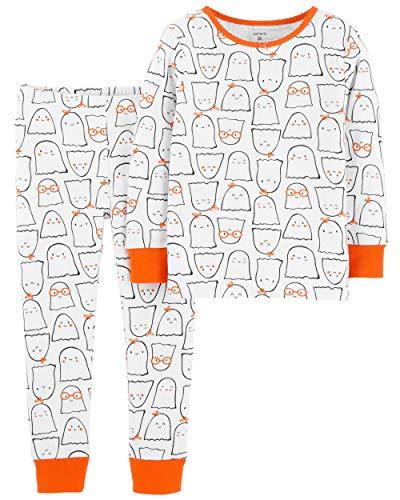 80/86 weiß/orange Gespenst Unisex Halloween Mädchen Junge US Size 24 Month (80/86) ()