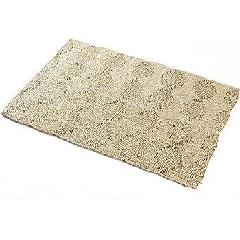 nadeco strohteppich mit muster 60 cm rund maisstrohteppich natur stroh teppich. Black Bedroom Furniture Sets. Home Design Ideas