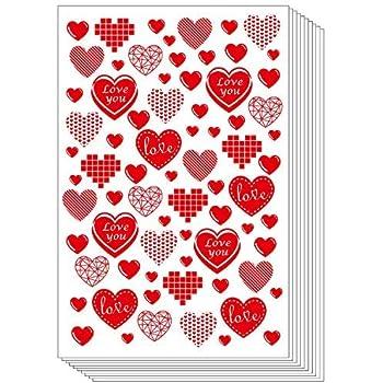 25 Shiny Green Love Hearts Waterproof Peel Off Glittery Stickers FREE UK P+P