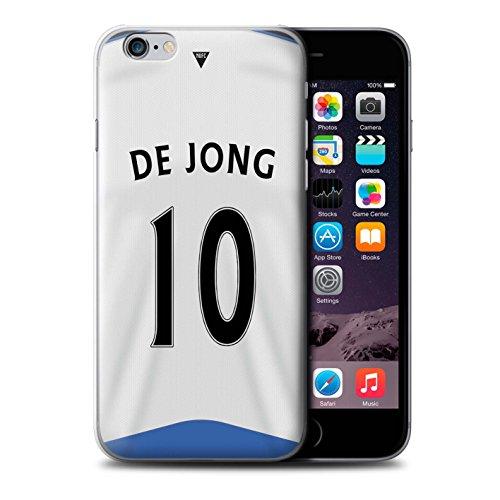 Offiziell Newcastle United FC Hülle / Case für Apple iPhone 6S+/Plus / Rivière Muster / NUFC Trikot Home 15/16 Kollektion De Jong