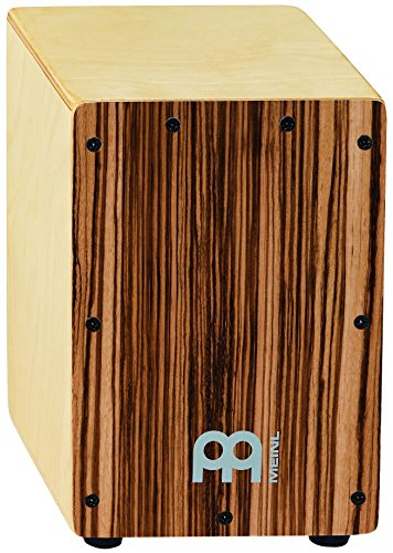meinl-percussion-scaj1nt-lb-mini-cajon-birch-wood-front-plate-body-parent-exotic-zebrano-front-plate
