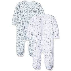 Care - Pyjama - Bébé garçon - Lot de 2, Bleu - Blau (Light blue 700), 12 mois (Taille fabricant 80)