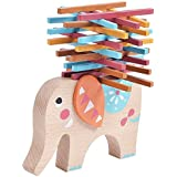 Wooden Balance Beam Elephant Stacking Blocks Wooden Building Blocks Table Toy For Children Above 3