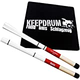 Sela SE035 Cajon Brush + KEEPDRUM Sitz-Pad