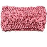 Ewandastore Women Girls Twist Wave Wool Knitting Knitted Hat Winter Warm Crochet Flora Headband Head Wrap Hair...