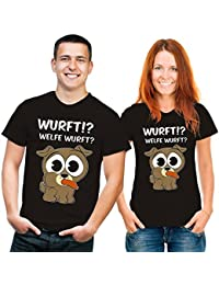 Welfe Wurft Hunde T-Shirt schwarz weiss braun