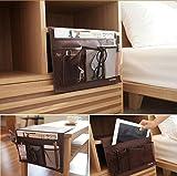 Faltbare Kinder Aufbewahrungskörbe Aufbewahrungsbox Hängeorganizer Stoff Wandorganizer Organizer Korb Spielzeugkiste (Braun)