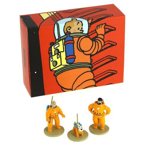 Set de figuras Moulinsart Tintín, Haddock y Milú cosmonautas 46305 (2016)