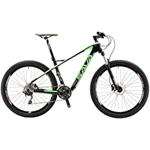 SAVA Vélo de Montagne Fibre de Carbone Cadre Ultraléger Système SHIMANO M610 Deore XT SR SUNTOUR Fourchette Plus 3.0