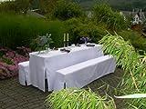 Hussen-Set für Festzeltgarnitur mit 70cm-Tisch, gepolsterte Ausführung, weiss
