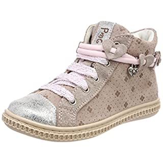 Primigi Girls' PST 14300 Hi-Top Trainers, Pink (ROS.A-TAUP/ARGE 00), 8.5UK Child