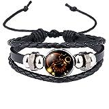 Caimeytie Bracelet Réglable Pendante Constellation Verre Produit Lion
