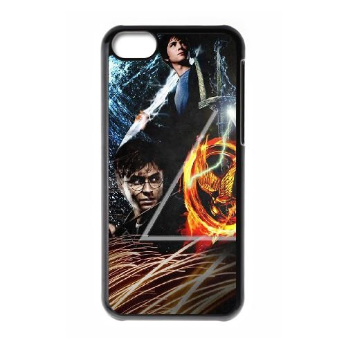 Deathly Hallows coque iPhone 5C Housse téléphone Noir de couverture de cas coque EBDXJKNBO11174