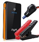 FlyHi 300A Peak 8000mAh Caricabatteria Portatile di Avviatore dell'Automobile(Motore di Gas Fino a 2,5L, NON PER MOTORE DIESEL) con la Potente Porta di Ricarica USB, Torcia Elettrica Incorporata a LED