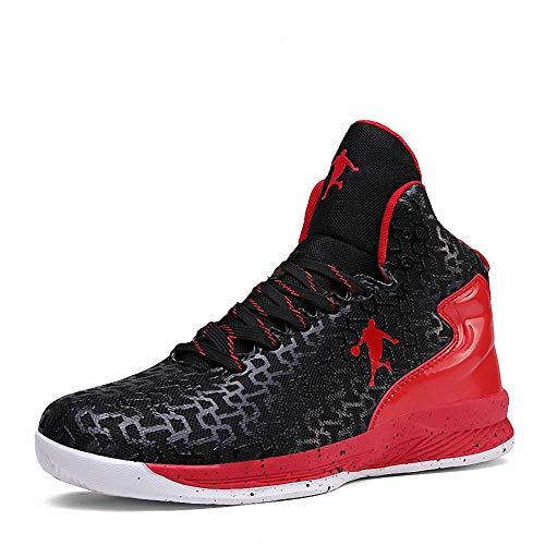 Rotok GLB070, Unisex Erwachsene Hoch, Schwarz - schwarz/rot - Größe: 47 EU - Basketball-schuhe Aus