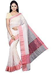 Pavechas Kota Doria Kota Cotton Checkered Saree - Beige MK3493