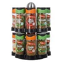 Premier Housewares 2-Tier Spice Rack with 16 Schwartz Spices
