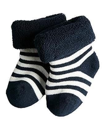 FALKE Unisex Baby Socken Erstlingsringel, Gr. 50 (Herstellergröße: 50-56), Blau (marine 6120)