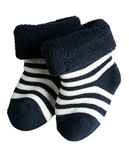 FALKE Unisex-Baby Socken Erstlingsringel, Blickdicht, Marine, 62-68