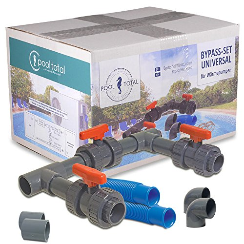 POOL Total Bypass-Set UNIVERSAL, Adapter für Pool-Heizung / Wärmepumpe / Pool Solar-Heizung - Bypass Kit