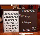 SwirlColor 3 pedazos DIY letras inglesas Capital Alphabet Dibujo Plantillas Stencils Scrapbooking Herramienta