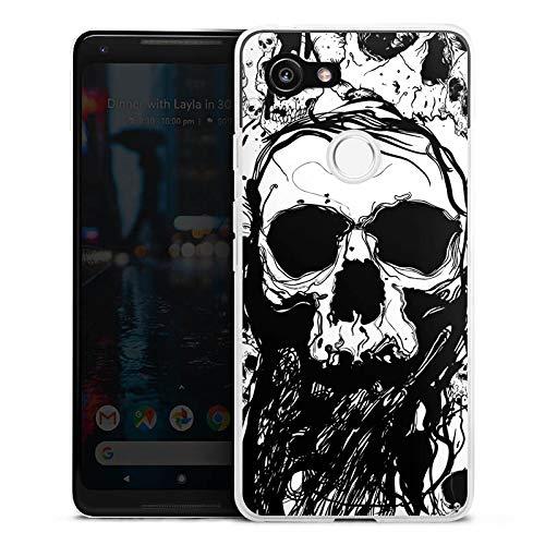DeinDesign Google Pixel 3 Silikon Hülle Case Schutzhülle Totenkopf Skull Halloween