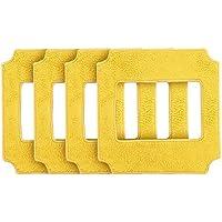 Alfawise Paños de WIN660 Robot de limpiaventanas/limpiacristales, Almohadillas de aspiradores Robot de Forma cuadrada, Limpie para cristal de edificio alto de interior y exterior (Amarillo)