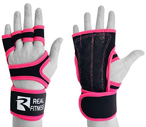 Real Empire Workout Handschuhe mit Handgelenkstütze, Crossfit Hand & Palm Protectors mit Bandage Wrist–Silikon Polsterung Guards für Fitness, Gewicht liftingcallus Schutz für Herren und Damen (Protector Palm)