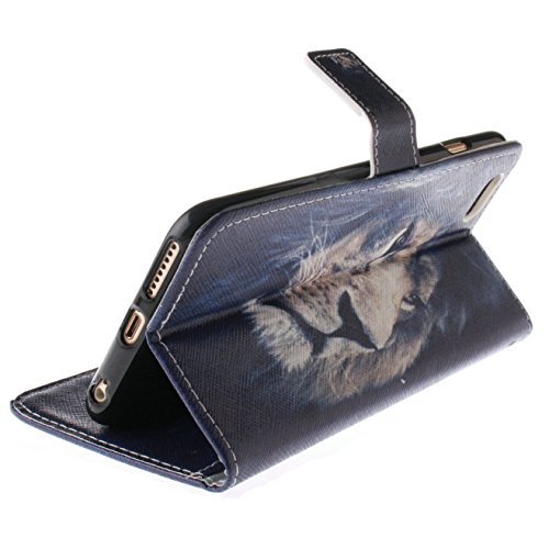 iPhone 6S Plus Hülle Blumen,iPhone 6 Plus Hülle Leder,iPhone 6S Plus Case,iPhone 6S Plus Leder Handy Tasche Wallet Case Flip Cover Etui für iPhone 6 Plus,EMAXELERS iPhone 6S Plus 5.5 Zoll Cute Blaue C G Almond Tree 6