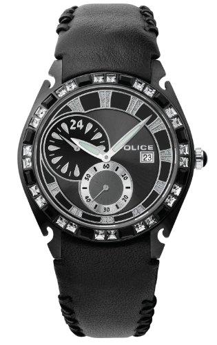 Police - 11610JSB/02 - Montre Femme - Quartz - Bracelet Cuir Noir