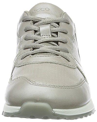 Ecco Sneak Ladies, Baskets Basses Femme Beige (50258Moon Rock-Silver/Moon R/Moon Rock)