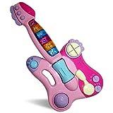 Giocattolo educativo per la prima infanzia - GALOOK - Mixer elettrico per chitarra giocattolo per bambini Strumenti musicali multifunzione rosa - include 42 melodie e batteria e 3 modalità di gioco e pop & rock & blues