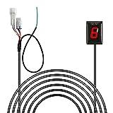 IDEA für KTM Motorrad Wasserdichte Motorrad Ganganzeige Geschwindigkeit LED Digital Anzeige Rot Plug & Play