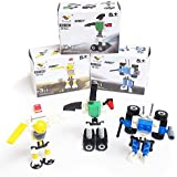 Robot Brick Sets (12 Pack), Lego-Inspired Party Favors, Buildable Robots, Over 380 Total Pieces!