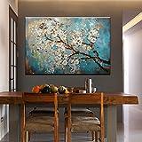 IPLST@ Moderne abstrakte handgemalte blühende Birnen-Baum-Blumen-Ölgemälde Große Gewebe-Segeltuch-Kunst-Wand-Abziehbilder-24