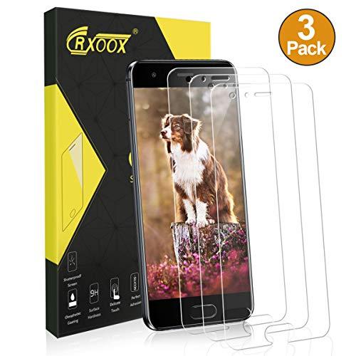 CRXOOX 3 Stück Panzerglasfolie für Huawei Honor 9 9H Panzerglas Schutzfolie Anti Kratzen Ohne Bläschen Displayschutzfolie Blasenfrei Einfache Montage für Huawei Honor 9 Transparent