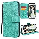 VemMore Kompatibel für Samsung Galaxy S6 Hülle Handyhülle Schutzhülle Leder PU Wallet Flip Case Bumper Lederhülle Ledercase B