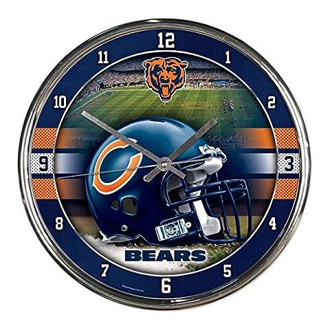 NFL Chrome Uhr Wanduhr Chicago Bears