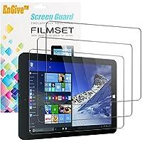 Linx 1010B 1010/Tablet, pellicola proteggi schermo inclusa, qualità Premium, EnGive-Confezione da 3, HD trasparente, antigraffio] [] bolle installazione Pellicola protettiva per lo schermo, per Linx 1010/1010B (10,1