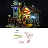 LED Beleuchtung,LED-Beleuchtungsset,LED-Leuchteinheit,LED Beleuchtung DIY Leuchtende Bausteine Zubehör,Für Lego Creative Fishing Old Shop 21310 geeignet-Enthält Keine Spielzeugmodelle.