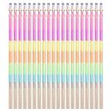newhashiqi Kugelschreiberminen, mehrfarbig, 0,5 mm, Gelstift, Ersatzteil, 20 Stück multi