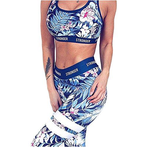 DOTBUY Bekleidung Yoga Set, Komfort Damen Sport BH Jogginghose Sport Leggings Yoga Hose Trainingshose Sport Bustier ohne Bügel Yoga Fitness Training