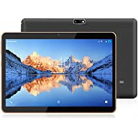 YOTOPT 10.1 Pouces Tablette Tactile - 3G/WiFi, Android 7.0, Quad Core, 16 Go, 2 Go de RAM, Doule SIM, Bluetooth, GPS, OTG - Noir