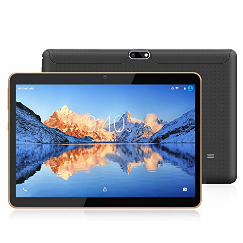 Tablets 10.1 Pulgadas Android 7.0 YOTOPT, Quad Core, 2GB + 16GB, 3G Tableta, Dual SIM, WiFi/ Bluetooth/GPS/OTG - Negro